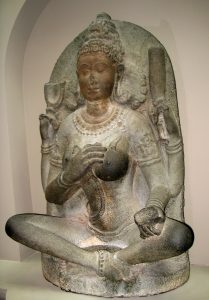 Source: http://commons.wikimedia.org/wiki/File:Yogini_Goddess_from_Tamil_Nadu.jpg